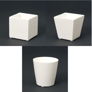 陶器ポット_ホワイト