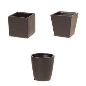 陶器ポット_ブラック
